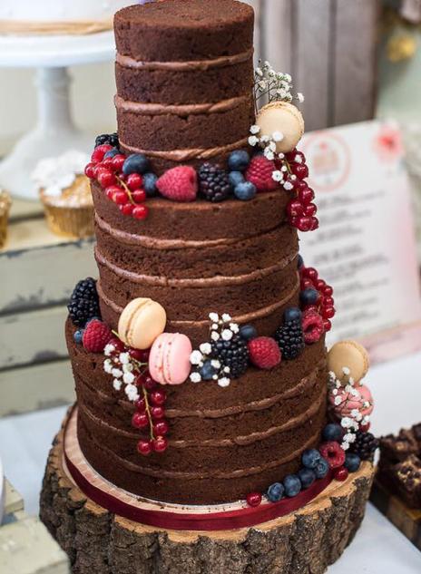 Wedding Cake - Naked Cake - North Yorkshire