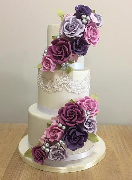 Purple Wedding Cake Flowers - North Yorkshire