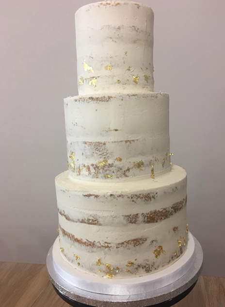 Semi Naked Wedding Cake North Yorkshire