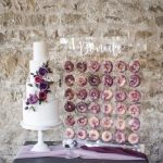 Wedding cake and donut wall